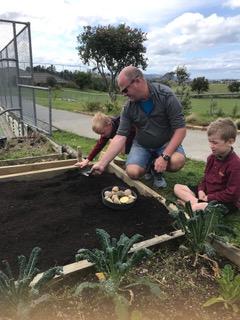 Environmental Team Preparing Planting Beds 2019_1