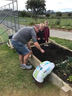 Environmental Team Preparing Planting Beds 2019_9
