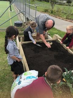 Environmental Team Preparing Planting Beds 2019_4