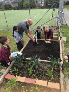 Environmental Team Preparing Planting Beds 2019_6