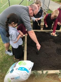 Environmental Team Preparing Planting Beds 2019_7